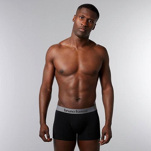 Bruno Banani 2er-Pack Shorts, schwarz/grau