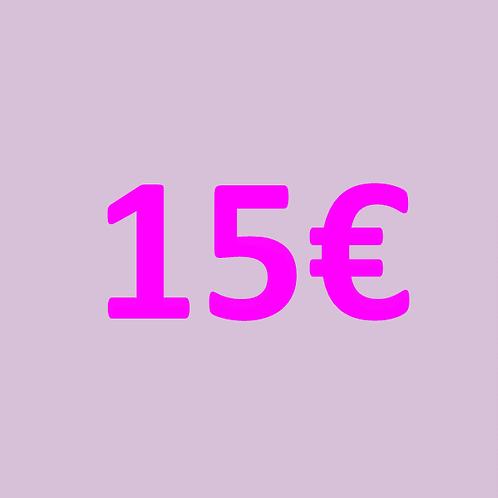 15€ Gutschein