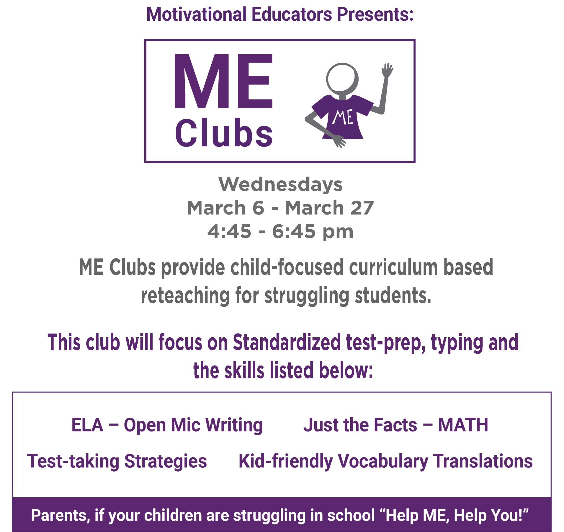 ME Club Standardized Testing Prep