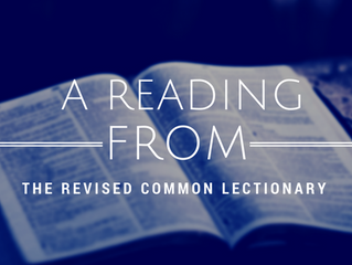 A reading from ... the Revised Common Lectionary