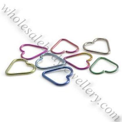 Titanium Heart Shaped Ring