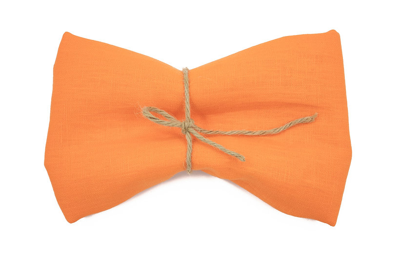 Heavy Weight Pure Linen - Santoriai Orange