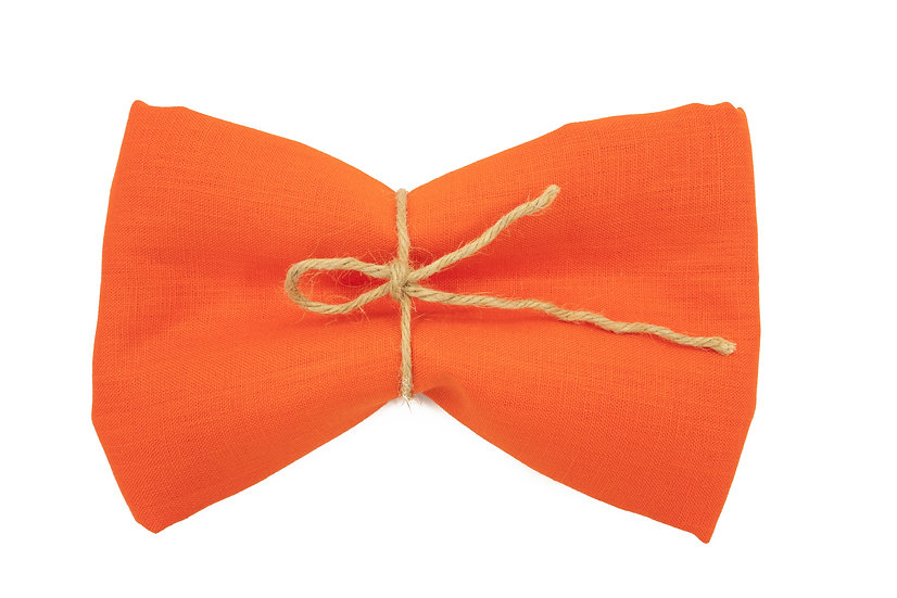 Heavy Weight Pure Linen - Tropical Orange