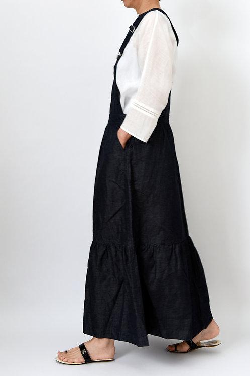 リネンデニムジャンパースカート