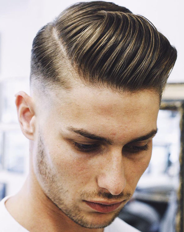 Side part hair, Men's hairstyles, pomade hairstyles, how to do side part