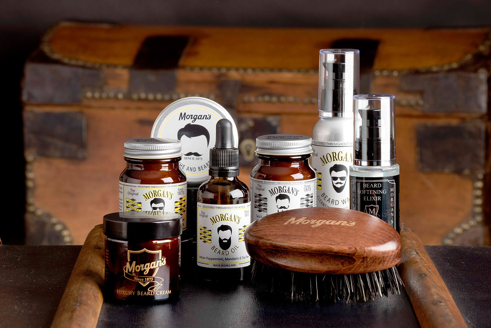 Beard care products, natural beard oil, beard cream, beard softener, mustache styling product, beard brush