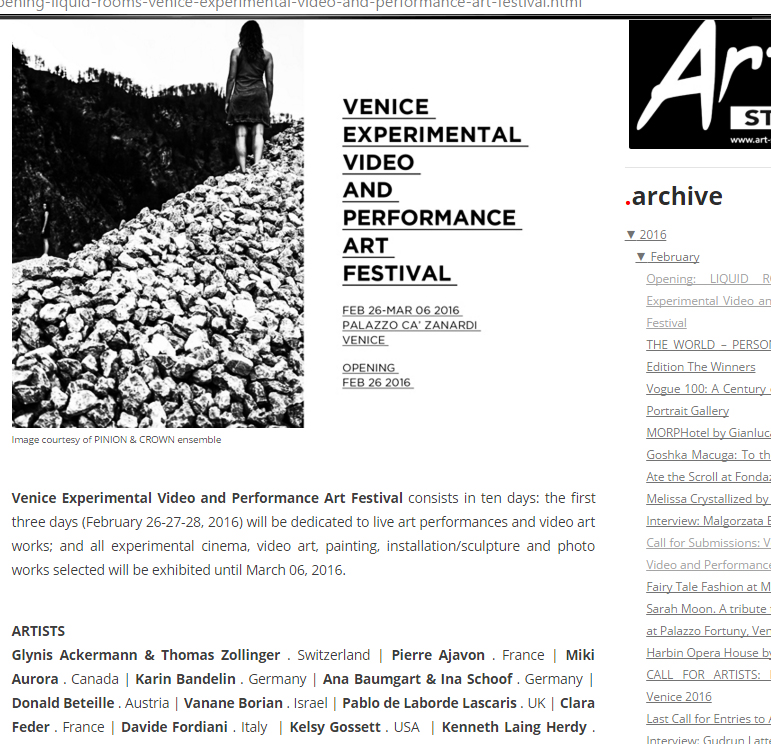 VENICE experimental video art festiv