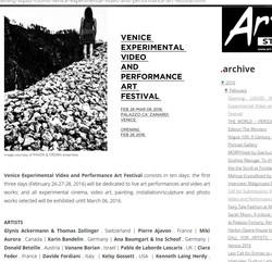 VENICE experimental video art festiv