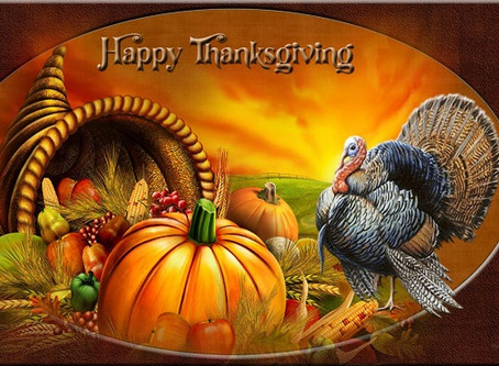 """Happy Thanksgiving"" from Larry & Janet Neville"
