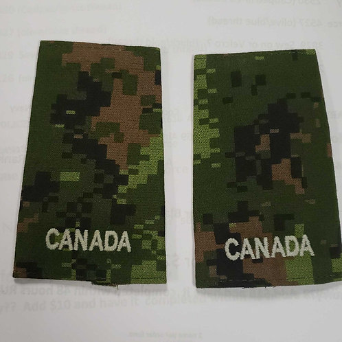 Cadpat Army private rank slipon set of 2 free shipping