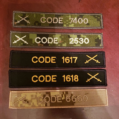 Canadian Military Army name tags