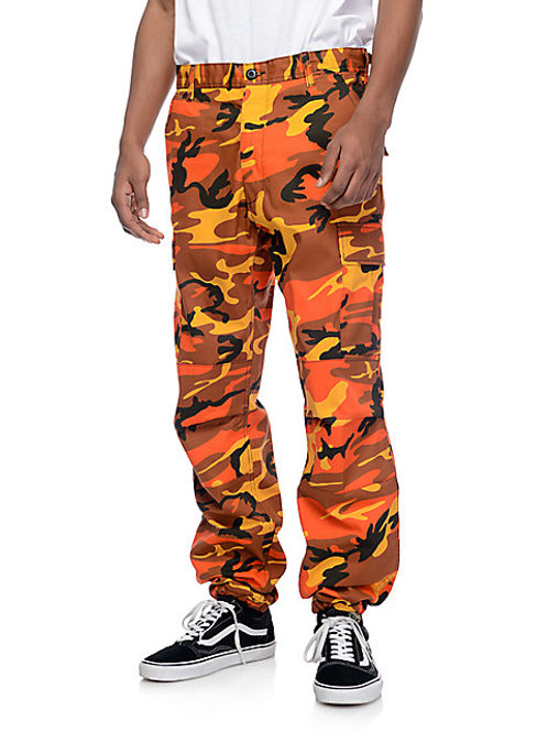 BDU Savage Orange Camo Cargo Pants