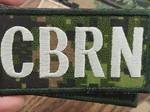"CBRN 2X4 VELCRO PATCH ""Free shipping"""