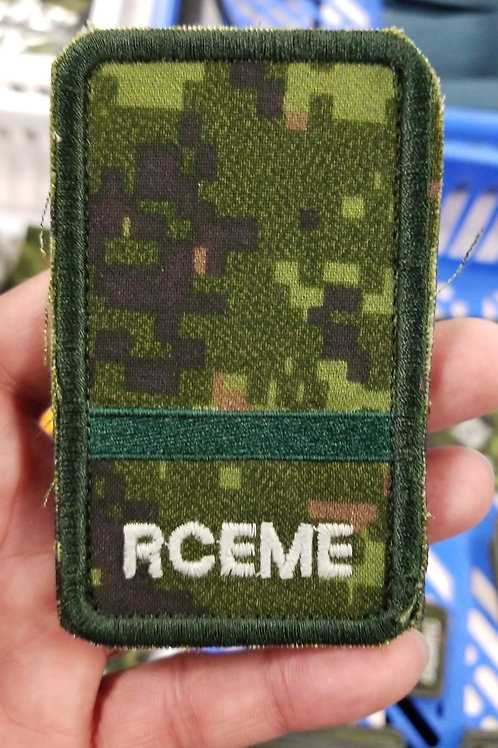 Army RCEME rank badge
