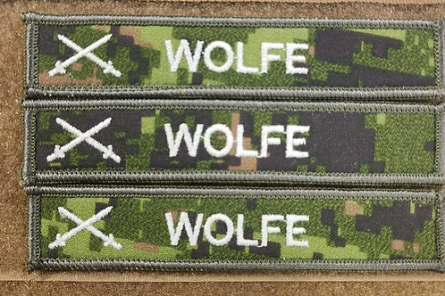 Canadian Military Army Hi vis name tags