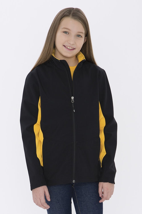 COAL HARBOUR® EVERYDAY COLOUR BLOCK SOFT SHELL YOUTH JACKET. Y7604