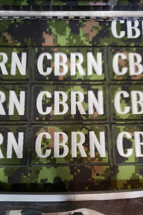 CBRN 2X4 VELCRO PATCH