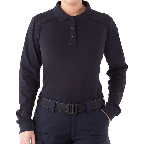 WOMEN'S PERFORMANCE LONG SLEEVE POLO WITH PEN POCKET