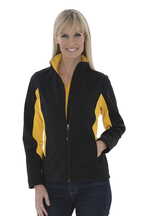 L7604 COAL HARBOUR® EVERYDAY COLOUR BLOCK SOFT SHELL LADIES' JACKET. L7604