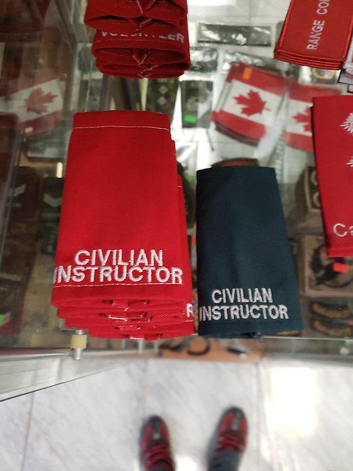 CIVILIAN INSTRUCTOR  or  INSTRUCTEUR CIVIL  slipon