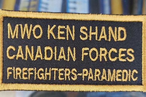 Firefighter Paramedic  custom patch