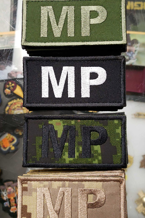 MP Patch with velcro velcro backing.