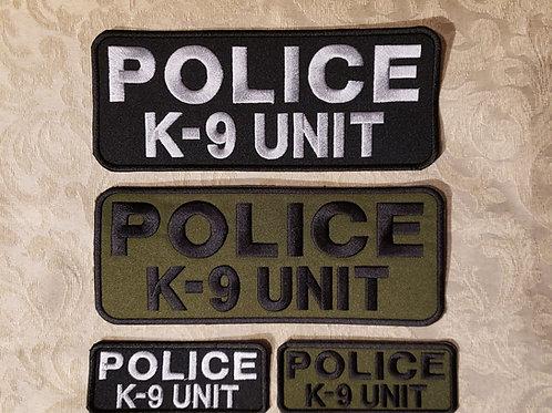 Police K-9 unit with velcro back