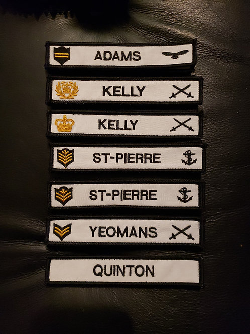 Cook Name tapes