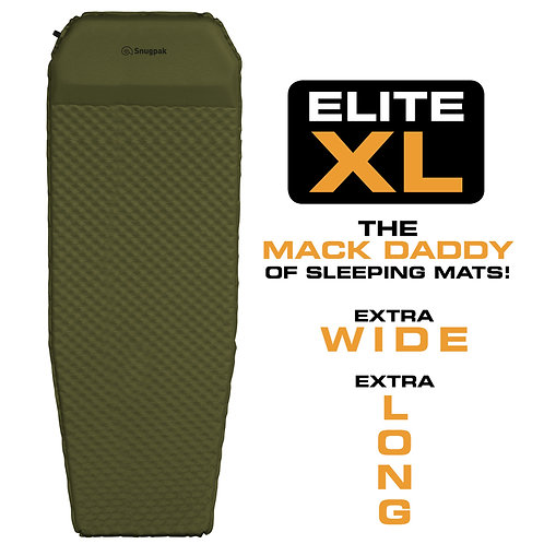 Snugpak Elite XL Self Inflating Mat w/Built-in Pillow