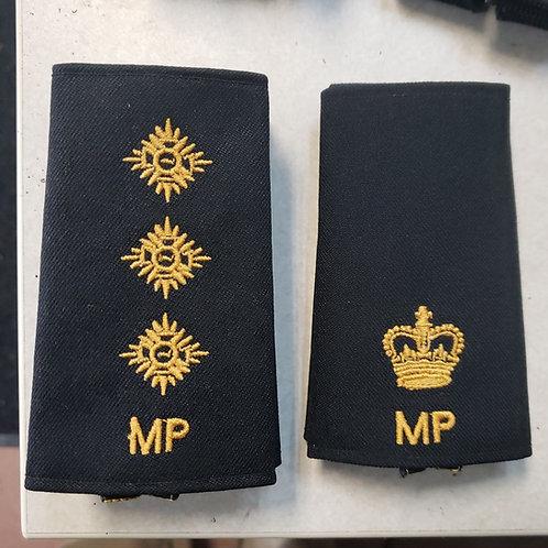 MILITARY POLICE slipon rank badges