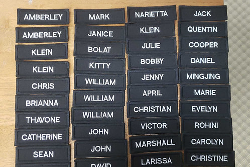 Custom name tags  with or without velcro