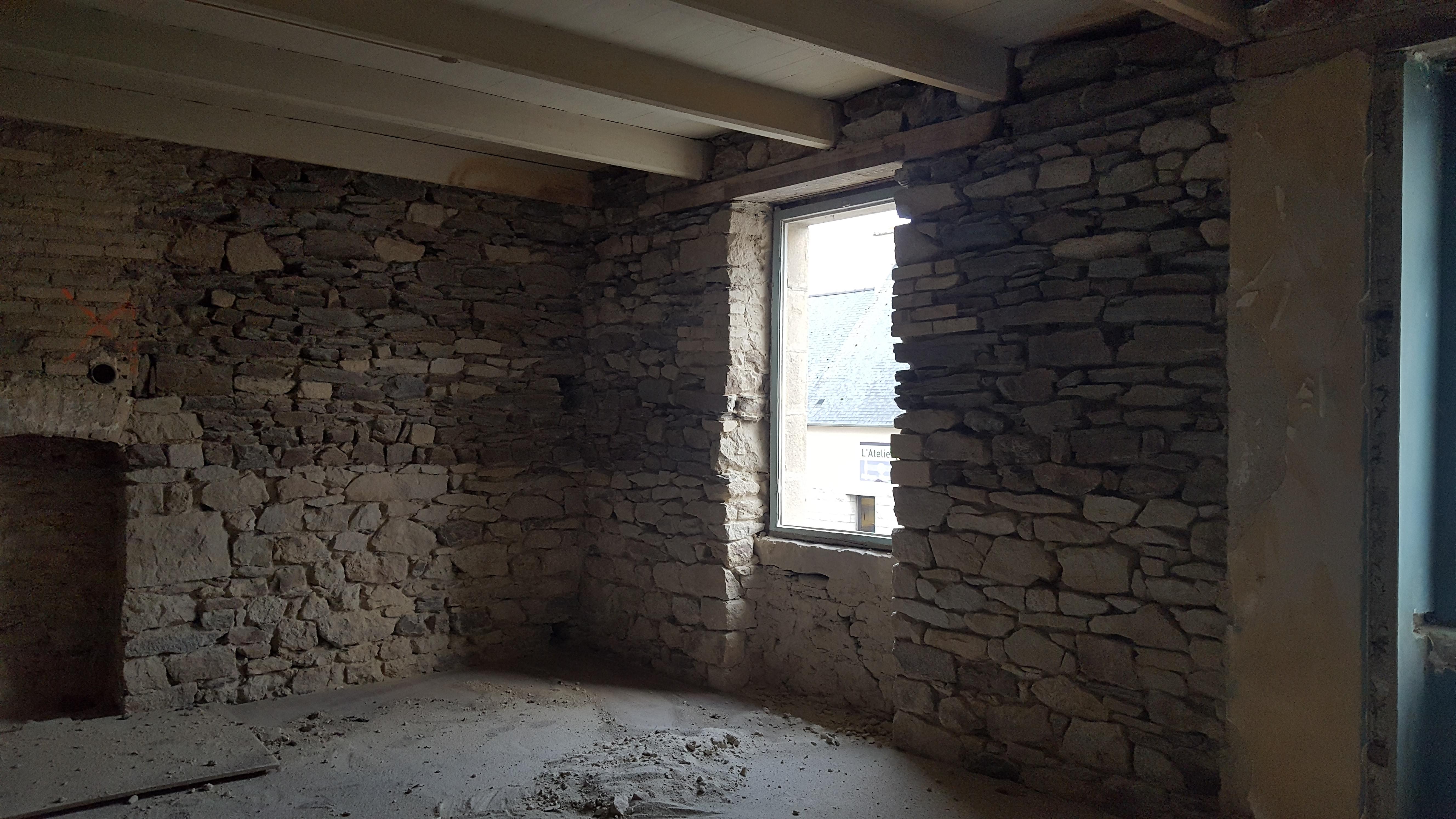 sablage pierre en intérieur