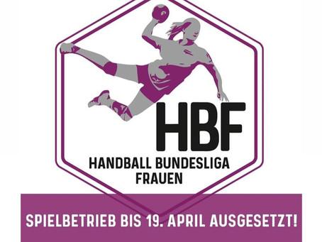 HBF-Spielbetrieb wird bis 19.4.2020 ausgesetzt