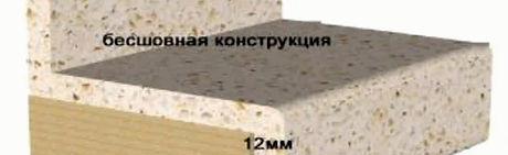столешница из акрилового камня в разрезе