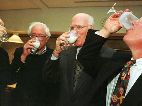 Why do Senators drink milk?