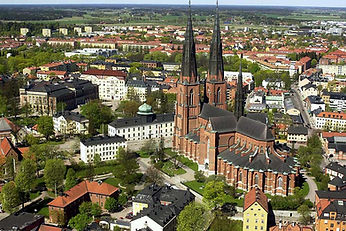 Uppsala-Cathedral-and-birds-eye-view-of-