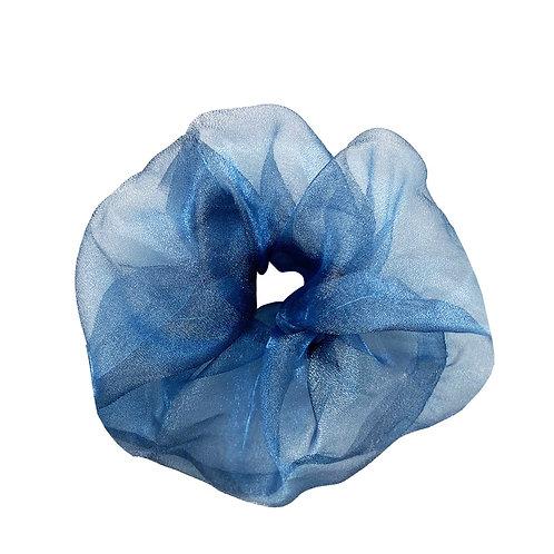 ORGANZA SCRUNCHIE BLUE