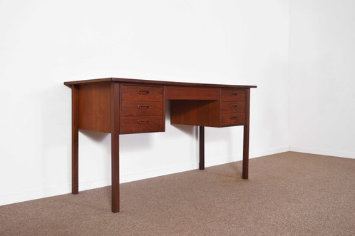 Petit bureau scandinave en teck - 1960 | AtHomeDesign - mobilier ...