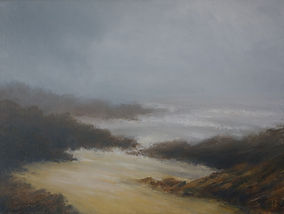 Stormy Days. Heybrook Bay. Oil on canvas