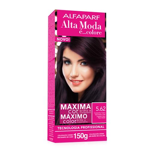 Coloração Alta Moda É Colore Alfaparf 5.62 Castanho Claro Vermelho Irisé 150G