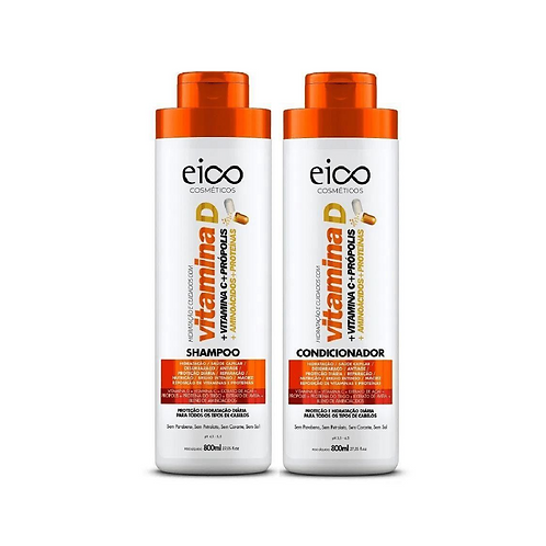 Kit Eico Vitamina D Shampoo+Condicionador 800ml