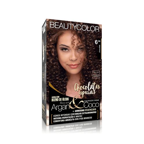 Coloração BeautyColor 6.34 Chocolate 50g