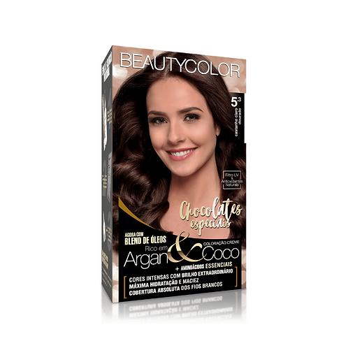 Coloração BeautyColor 5.0 Castanho Claro Dourado 50g