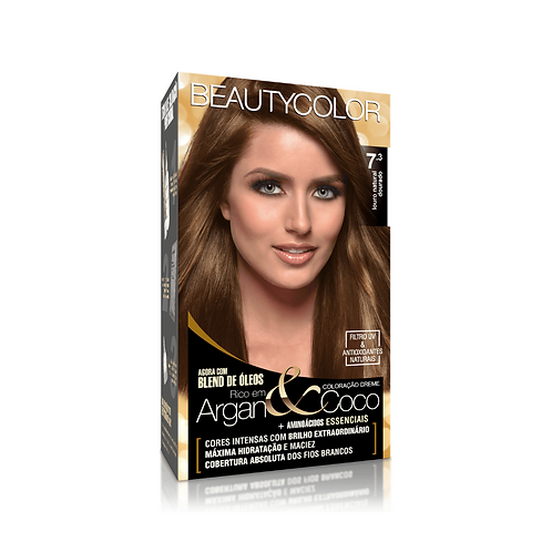 Coloração BeautyColor 7.3 Louro Natural Dourado 50g