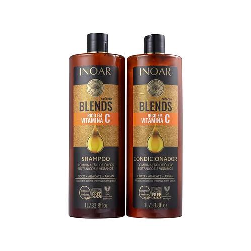 Kit Inoar Coleção Blends Shampoo 1L + Condicionador 1L