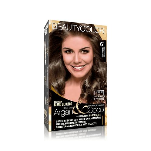 Coloração BeautyColor 6.1 Louro Escuro Acinzentado 50g