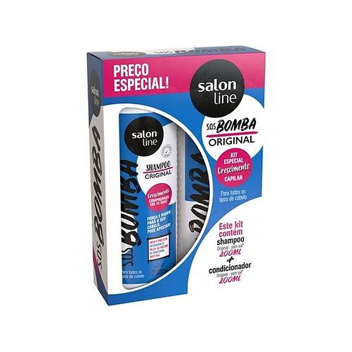 Kit Salon Line SOS Bomba Original Shampoo+Condicionador 200ml