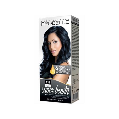 Coloração Probelle Super Bonita 2.8 Preto Azulado Perola 50g