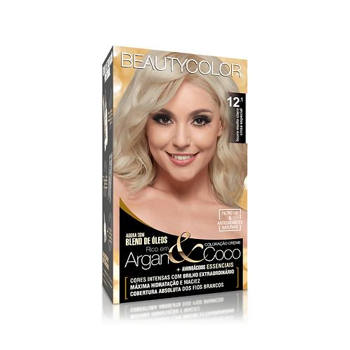 Coloração BeautyColor 12.1 Louro Muito Claro Cinza Especial 50g