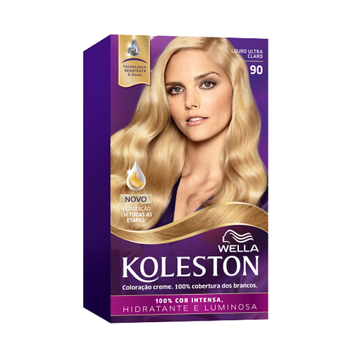 Coloração Creme Wella Koleston Kit Louro Ultra Claro 90